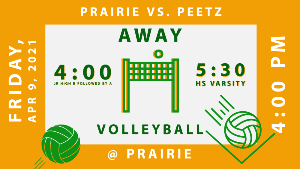 VB Prairie vs Peetz - 4/9 @4:00 Away