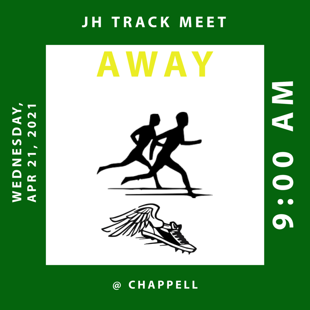 JH Track Meet @ Chappell on 04/21