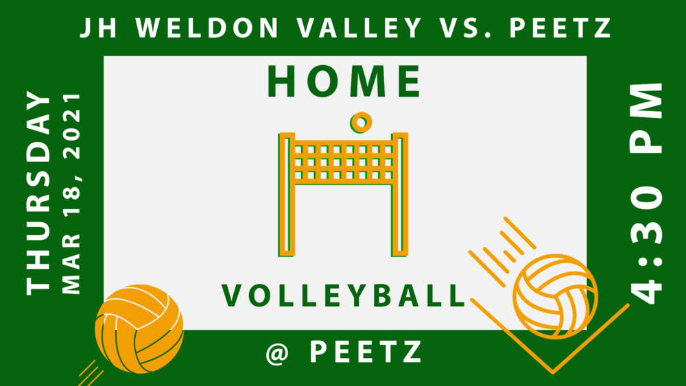 Jr High VB vs Weldon Valley at Peetz - 4:30