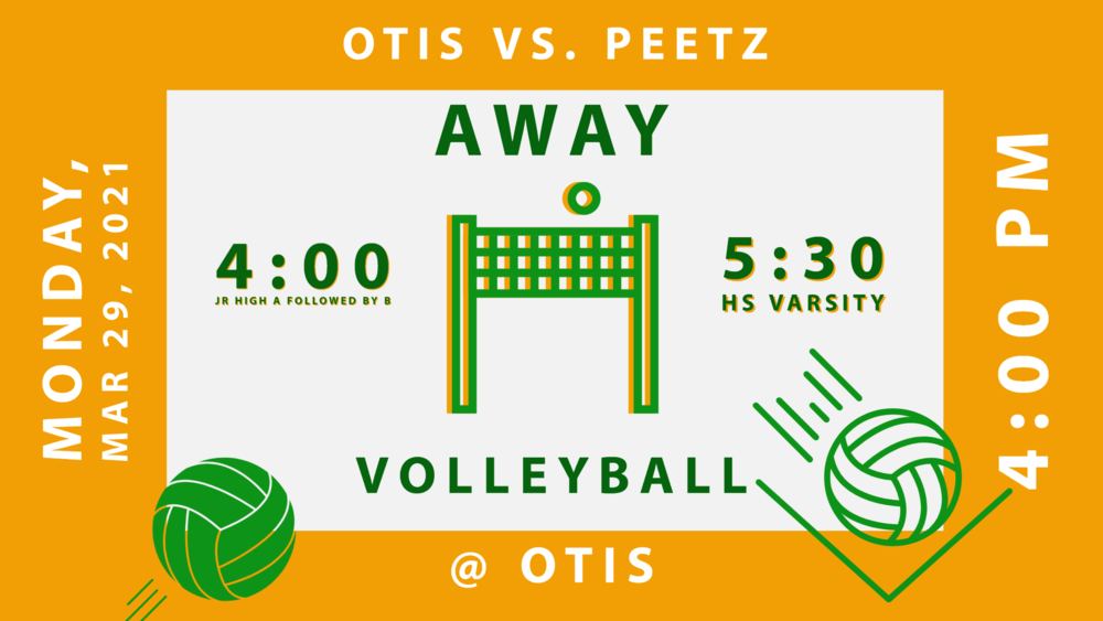 VB Otis vs Peetz - 3/29 @4:00 @Otis