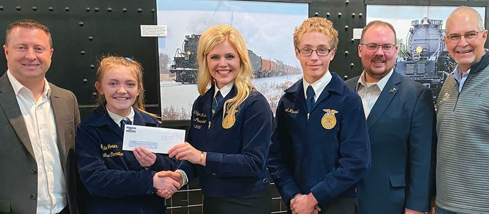 Michael K receives SAE grant money to restore tractor