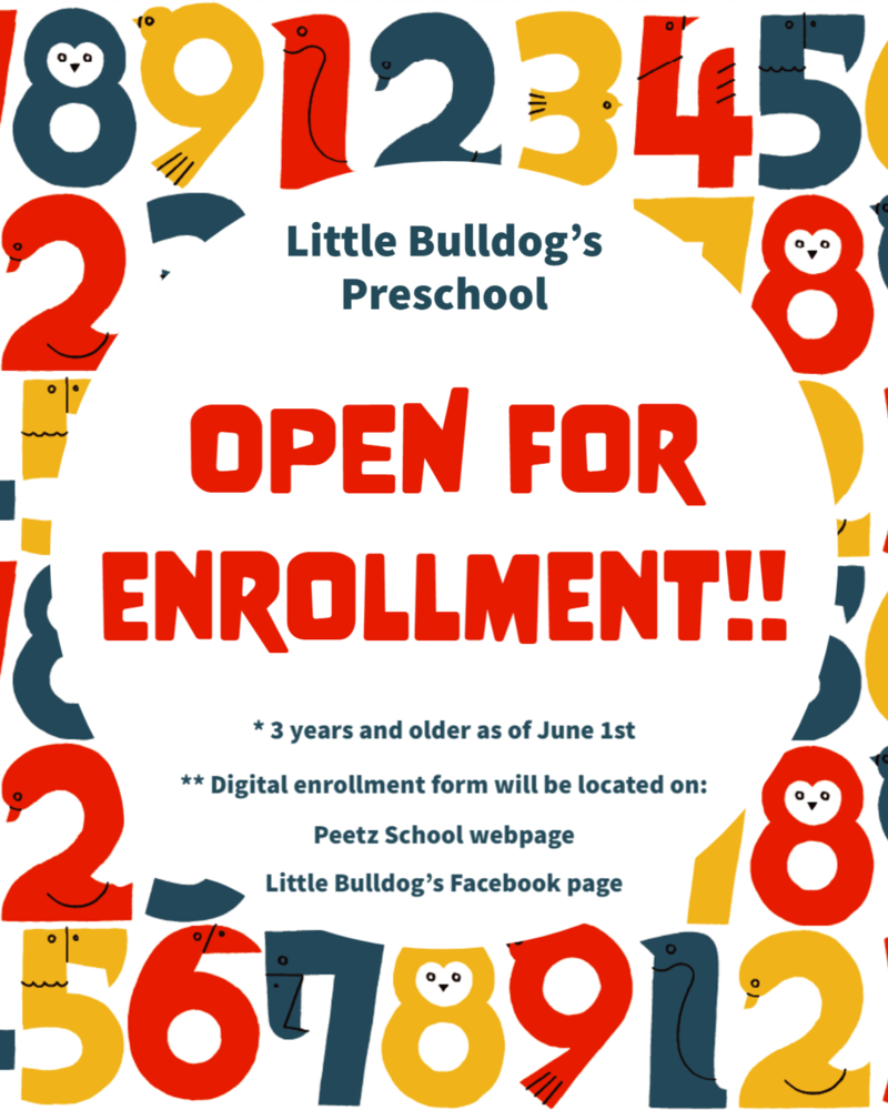 Peetz Little Bulldogs Preschool Open for Enrollment