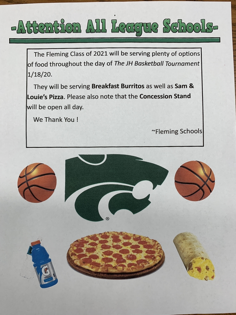 Concession stand flyer