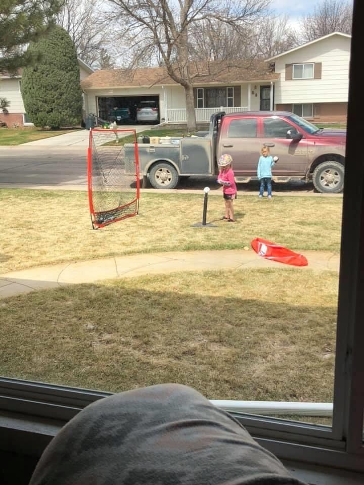 Kids playing in front yard