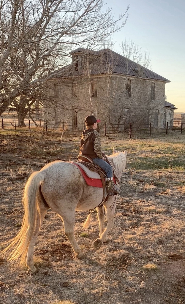 Cutter riding his horse