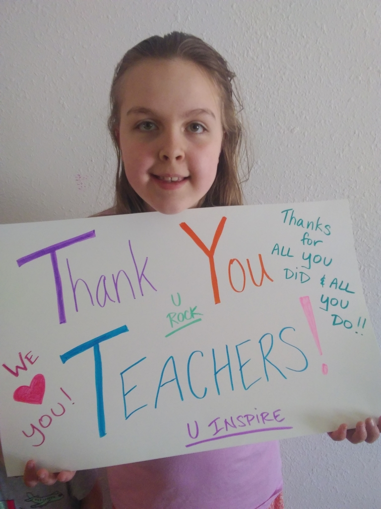 Thank you card to teachers